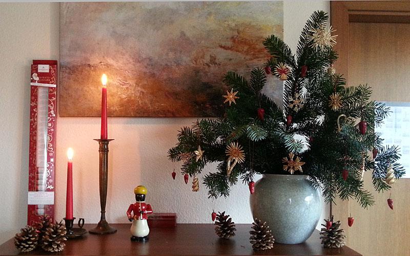 Tokonoma weihnachtlich